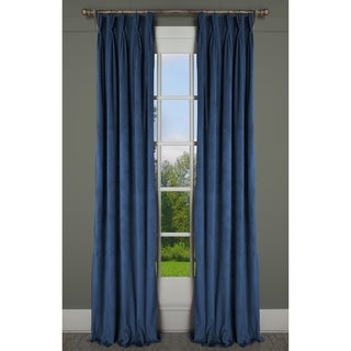 Milan Luxurious Lapis Blue Velvet Pinch Pleat Lined Drapery Panel