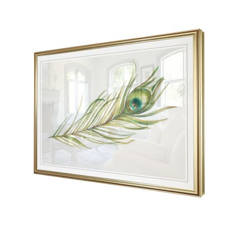 WatercolorPeacock Feather I-Framed Giclee Print