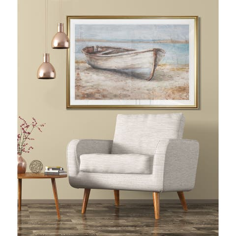Embellished Whitewashed Boat-Framed Giclee Print