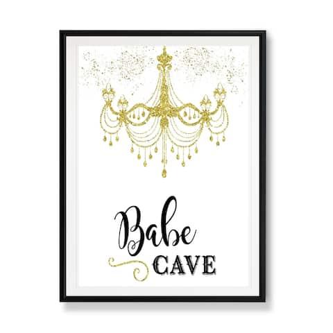 Babe Cave-Framed Giclee Print