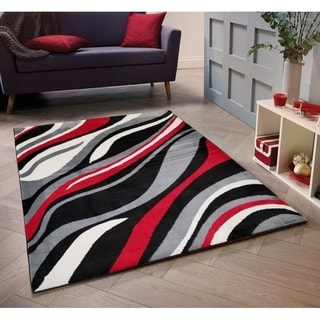 Abstract Waves Area Rug