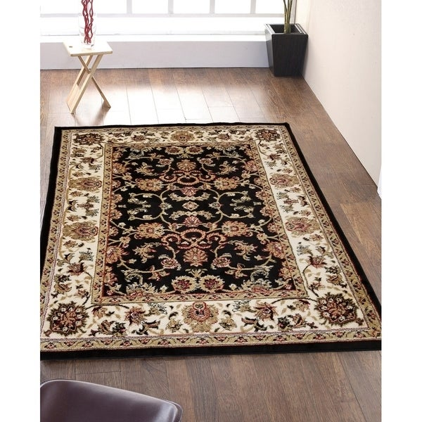 Oriental Mahal Bordered Area Rug