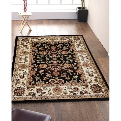 Mahal Persian-style Bordered Ivory Oriental Area Rug