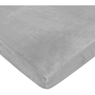 ABC Heavenly Soft Chenille Pack-N-Play Playard Sheet, Gray