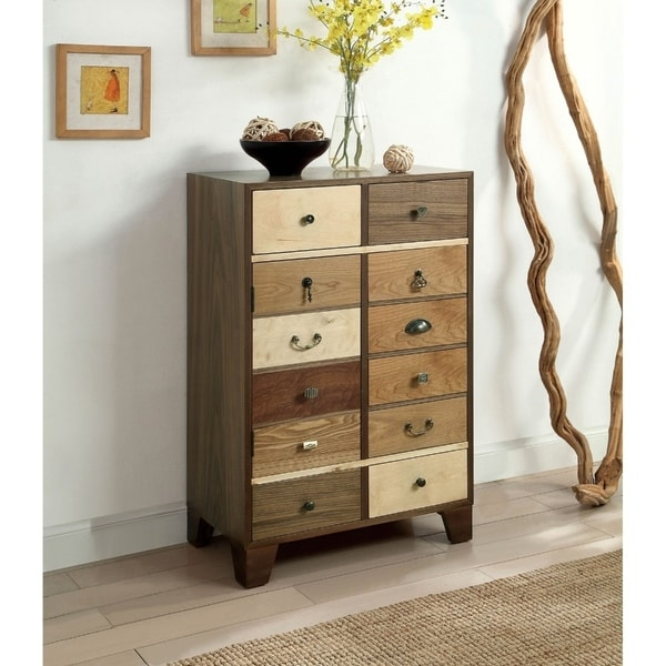 Solid Wood Hallway Cabinet with Stylish Metal Pulls, Multicolor