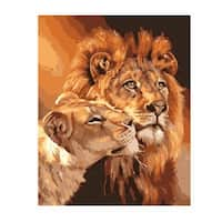 Two Lions DIY Digital Oil Hand Painting Wall Decor