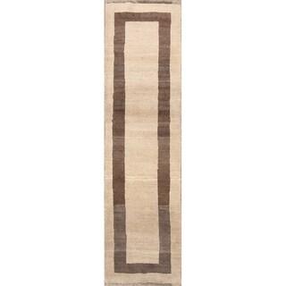 "Classical Shiraz Traditional Handmade Wool Gabbeh Persian Rug - 9'0"" x 2'6"" runner"
