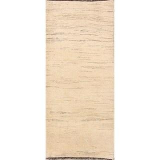 "Hand Knotted Wool Classical Gabbeh Shiraz Tribal Persian Rug Oriental - 6'6"" x 2'10"" runner"