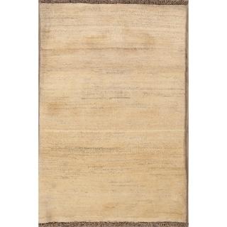 "Modern Traditional Gabbeh Shiraz Hand Made Persian Area Rug Wool - 4'9"" x 3'3"""