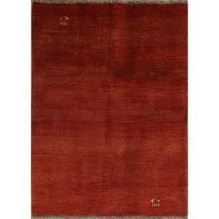 "Classical Shiraz Qashqai Hand Knotted Wool Gabbeh Persian Area Rug - 4'10"" x 3'7"""