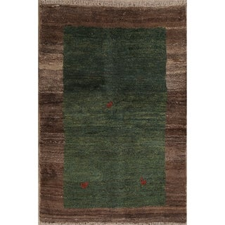 "Classical Zolanvari Shiraz Hand Knotted Gabbeh Persian Area Rug Wool - 5'7"" x 3'10"""