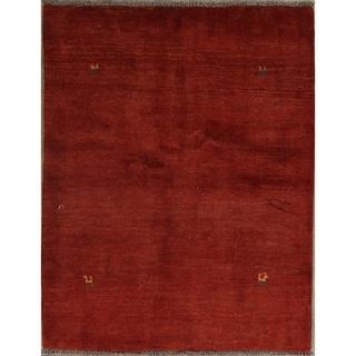 "Traditional Gabbeh Shiraz Hand Made Wool Persian Area Rug Oriental - 5'2"" x 3'10"""