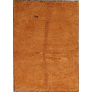 "Handmade Wool Traditional Modern Gabbeh Shiraz Persian Area Rug - 4'10"" x 3'6"""
