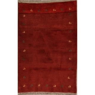 "Shiraz Handmade Wool Gabbeh Persian Tribal Area Rug Oriental - 5'3"" x 3'7"""