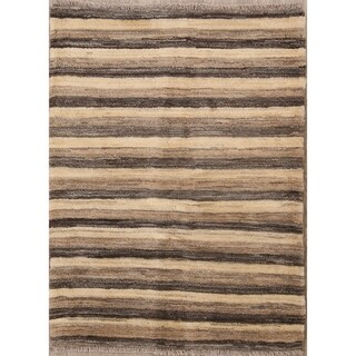 "Zolanvari Shiraz Handmade Wool Gabbeh Persian Area Rug - 4'10"" x 3'7"""