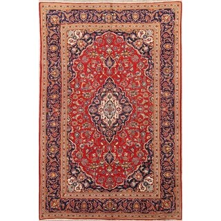 """Classical Kashan Hand Knotted Persian Traditional Area Rug Wool - 10'3"""" x 6'7"""""""