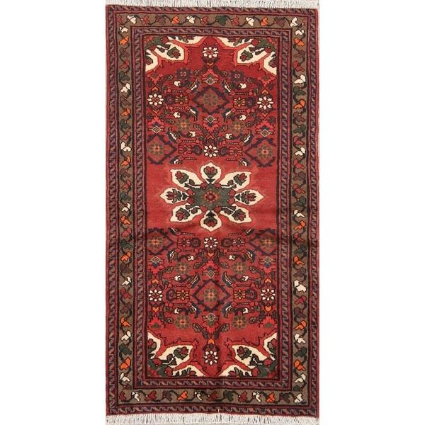 "Hand Made Woolen Hamedan Persian Tribal Rug - 6'1"" x 3'2"" runner"