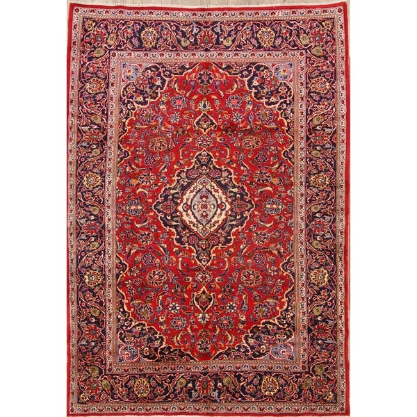 Hand Knotted Persian Kashan Wool Area Rug Ebth: Shop Classical Kashan Hand Knotted Persian Traditional