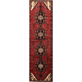 "Hamedan Hand Made Wool Persian Traditional Rug - 13'3"" x 3'9"" runner"