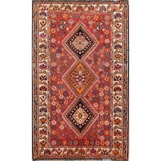"Traditional Handmade Wool Lori Shiraz Persian Tribal Area Rug - 7'0"" x 4'4"""