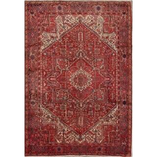 "Vintage Handmade Wool Traditional Heriz Persian Classical Area Rug - 11'4"" x 7'11"""