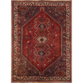 "Hand Made Wool Traditional Shiraz Persian Area Rug - 5'0"" x 3'8"""