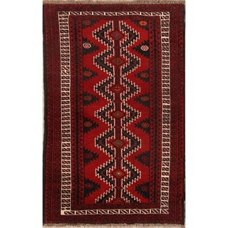 "Traditional Hand Made Wool Balouch Persian Area Rug - 6'5"" x 4'3"""