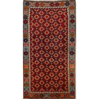 "Hand Made Traditional Geometric Kashkoli Shiraz Persian Area Rug Wool - 7'11"" x 4'5"""