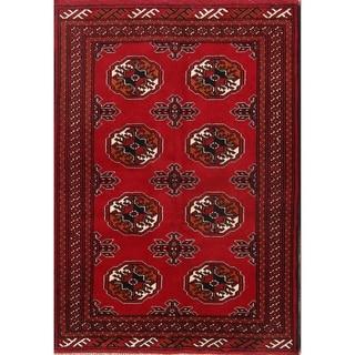 "Geometric Handmade Balouch Bokara Turkoman Persian Area Rug - 4'9"" x 3'4"""