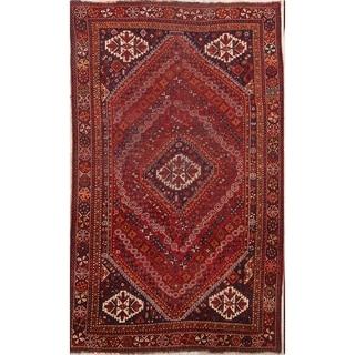 "Traditional Geometric Tribal Hand Made Lori Shiraz Persian Area Rug - 8'5"" x 5'2"""