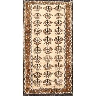 "Traditional Hand Made Oriental Gabbeh Shiraz Persian Rug Wool - 7'6"" x 4'0"" runner"