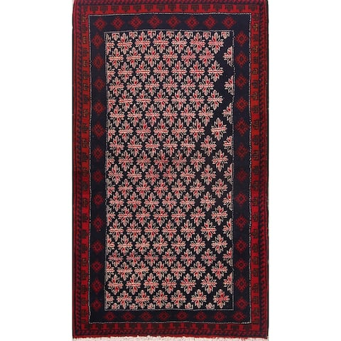"Hand Made Traditional Geometric Balouch Bokara Persian Rug Wool - 5'10"" x 3'5"" runner"