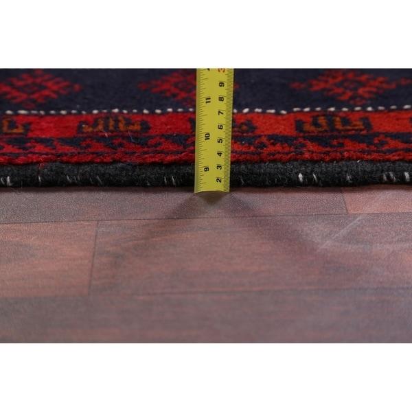 "Hand Made Traditional Geometric Balouch Bokara Persian Rug Wool - 5'10"" x 3'5"" runner"