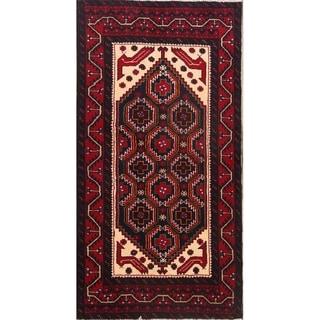 "Handmade Traditional Tribal Balouch Turkoman Persian Rug - 6'1"" x 3'2"" runner"