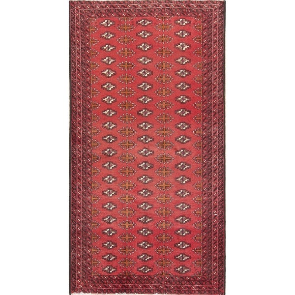 Persian Bokhara Hand Knotted Wool Area Rug: Shop Geometric Tribal Balouch Hand Knotted Bokhara Persian