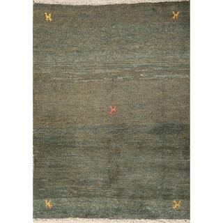 "Little Characters Gabbeh Shiraz Handmade Persian Area Rug Wool - 4'9"" x 3'6"""