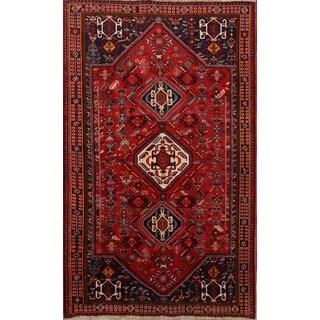 "Geometric Tribal Hand Made Traditional Nomad Shiraz Persian Area Rug - 8'6' x 5'3"""