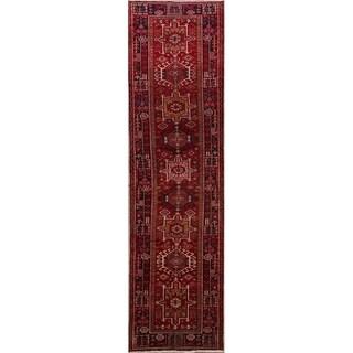 """Handmade Wool Traditional Oriental Gharajeh Persian Rug - 13'10"""" x 3'8"""" runner"""