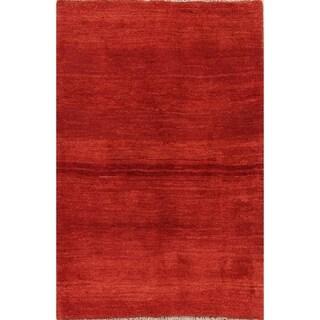 "Traditional Thick Pile Modern Gabbeh Shiraz Hand Made Persian Area Rug - 5'1"" x 3'6"""
