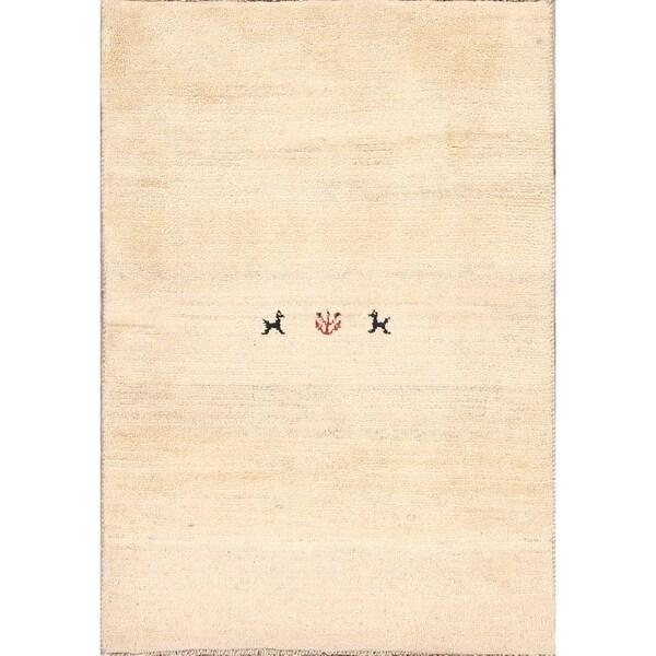 "Traditional Handmade Wool Little Animal Gabbeh Shiraz Persian Area Rug - 4'8"" x 3'3"""