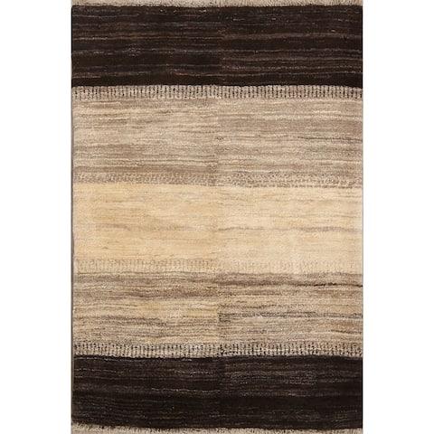 "Handmade Natural Dye Gabbeh Zolanvari Shiraz Persian Area Rug Wool - 5'1"" x 3'7"""