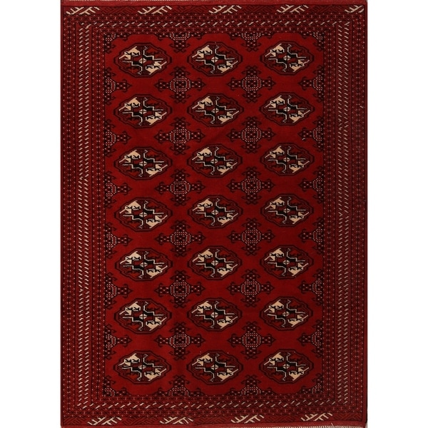 "Traditional Hand Knotted Oriental Bokara Turkoman Persian Area Rug - 6'3"" x 4'5"""