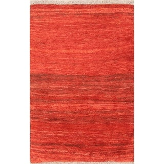 "Thick Pile Modern Gabbeh Shiraz Handmade Persian Area Rug Wool - 4'5"" x 2'11"""