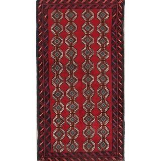 "Hand Made Geometric Tribal Balouch Bokara Persian Rug - 6'0"" x 3'3"" runner"