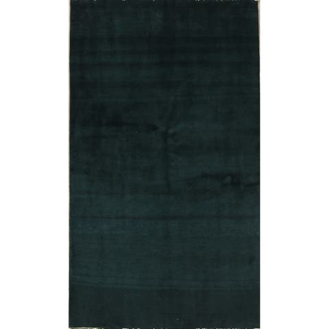 "Classical Handmade Wool Solid Gabbeh Zolanvari Persian Rug - 5'6"" x 3'3"" runner"