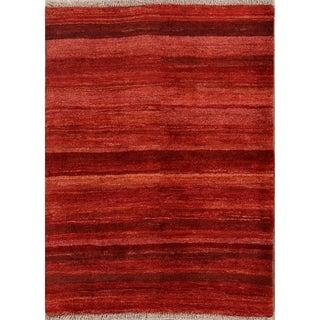 "Traditional Hand Made Modern Gabbeh Zolanvari Shiraz Persian Area Rug - 4'11"" x 3'8"""