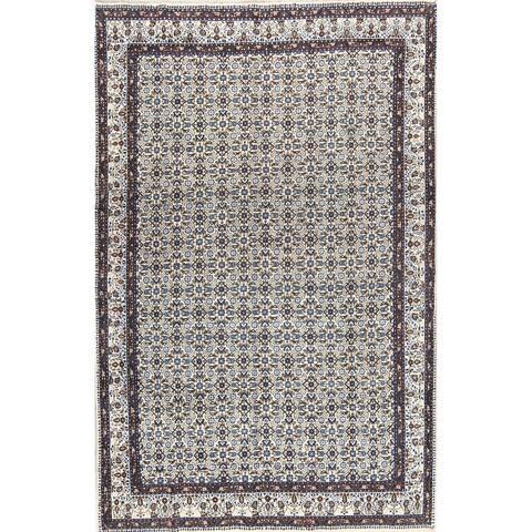 "Handmade Wool Traditional Pattern Floral Mood Mashad Persian Area Rug - 10'9"" x 7'0"""