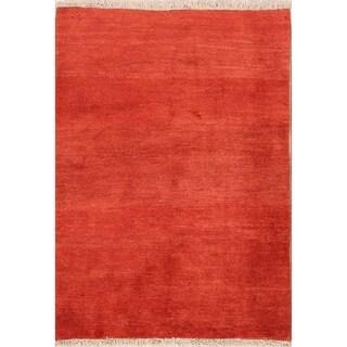 "Contemporary Gabbeh Shiraz Handmade Wool Persian Area Rug - 4'8"" x 3'4"""