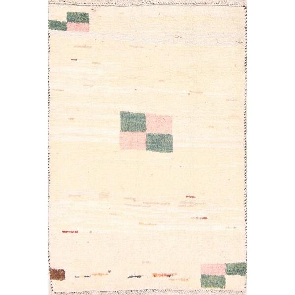 """Modern Gabbeh Shiraz Handmade Woolen Persian Area Rug Carpet - 3'8"""" x 2'7"""""""