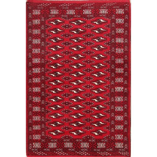 "Traditional Hand Made Tribal Bokhara Turkoman Balouch Persian Area Rug - 4'11"" x 3'3"""